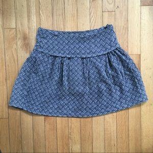 Madewell Chiffon Mini Skirt Blue & Taupe 0